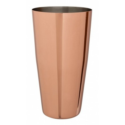 Polished Copper Plated Boston Can 28oz