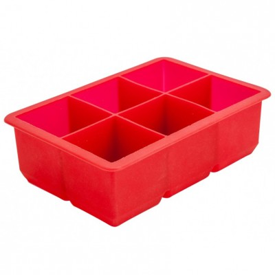 6 Cavity Silicone Ice Cube Mould 2″ Square