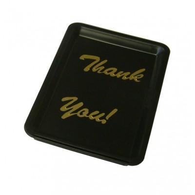 Tip Tray Black Plastic Thank You