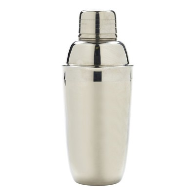 3 Piece Cocktail Shaker Stainless Steel 230ml