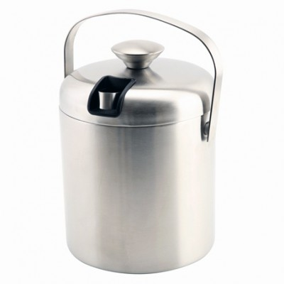 Insulated Stainless Steel Ice Bucket & Tong 1.2L